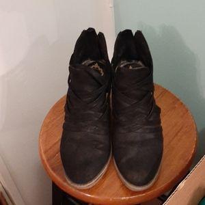 Fergalicious black cutout bootie